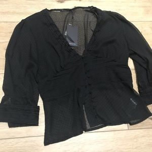 New with tag Evening or work blouse size 38 Europe